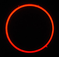 Annular Eclipse seen in Portugal, 3rd October, 2005. Credit: Jose Ribeiro